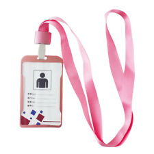 Aluminum Work ID Credit Card Badge Holder Protector Case With Lanyard Neck Strap