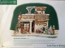 Dept 56 Little Town of Bethlehem® Rug Merchant'S Colonnade (Set of 4) -Brand New