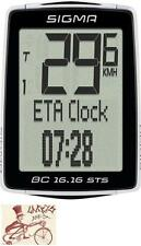 SIGMA BC 16.16 STS CADENCE WIRELESS BLACK BICYCLE SPEEDOMETER COMPUTER