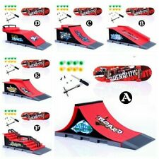 Mini Skatepark Park Rampe Für Finger Platte Skateboard Teile Set Kinder Toy Gift