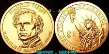 USA 2010 FRANKLIN PIERCE US PRESIDENTIAL STATUE OF LIBERTY RARE $1 DOLLAR COIN