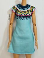 MATTEL AZTEC KNIT TIFFANY'S BLUE DRESS BARBIE CLOTHES FASHIONISTAS FASHION