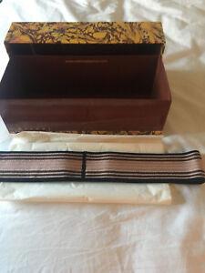 New Unworn Missoni Woven Sash Belt Size 42 In Original Matches Box