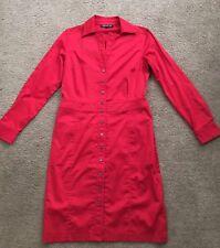 Jones New York Red Ling Sleeve Dress-Size 6