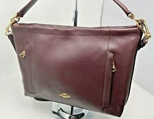 NWT_COACH SCOUT_Medium HOBO_PEBBLED LEATHER_SHOULDER PURSE_24770_Oxblood