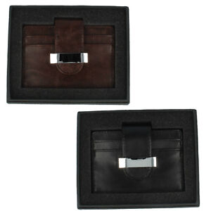 Lesser & Pavey Nero/Marrone Porta Carte di Credito LP22159