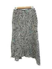 Designer Ginger & Smart Size 10 Asymmetrical Animal Print Silk Women's Skirt