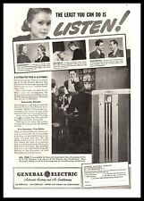 1938 General Electric Automatic Heating & Air Conditioning Oil Furnace Print Ad