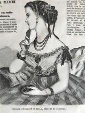 Year 1867 - MODE ILLUSTREE SEWING PATTERN Feb 3,1867 - CORSAGE DECOLETE- BLOUSES