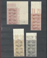 Somalia Italiana Parcel Post Marked w/Gum SC#Q42,Q44,Q47-8 Italy OVP