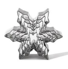 08530858f5843 5PC DIY Snowflake Shaped Christmas Bauble Cookie Cutters Tree Decor Xmas  Bake