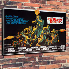 "The Dirty Dozen Movie Printed Canvas Picture A1.30""x20""-30mm Deep Lee Marvin.."