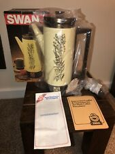 More details for vintage 1970s electric coffee percolator by swan herb range new boxed never used