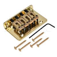 4 String Bass Bridge for Cigar Box Guitar Electric Ukulele Mandolin Parts Gold
