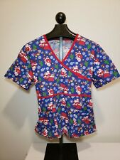 New listing Peppermint Scrubs Womens Scrubs Size Extra Large Christmas Holiday Top Medical