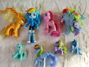 My little pony figurines LOT OF 6  plus one Equestrian Girl