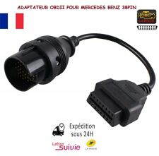 Proscan Automotive C/âble Adaptateur OBD 38 Broches vers OBDII 16 Broches pour W124 W202 S202 etc.