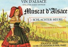 ALSACE VIEILLE ETIQUETTE MUSCAT DECOREE     §21/05/18§