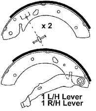 Toyota Avensis 97-00 With Rear Drums, New Rear Brake Shoes