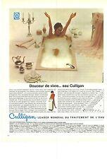 PUBLICITE  1969  CULLIGAN leader mondial du traitement de l'eau