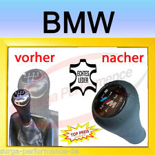 BMW E36 E28 E38 E39 E46 Abdeckung Lederbezug Echt Leder für Schaltknauf Neu