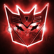 Edge Glowing LED Transformers Decepticons Car Emblem Car Badge Car Logo - RED