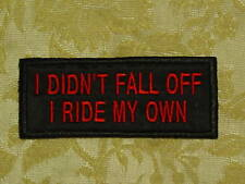 I RIDE MY OWN -biker patch motorcycle embroidered