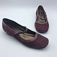 Naturalizer 129840900 Women Maroon Mary Jane Low Heel Shoe Size 9M Pre Owned