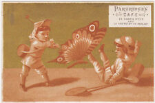 RARE 1880s PARTRIDGES CAFE VICTORIAN TRADE CARD PHILADELPHIA PA 15 N & 19 S 8TH