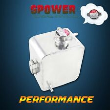 Universal Silver Aluminum Radiator Coolant Overflow Tank Water Bottle 2.5L AU