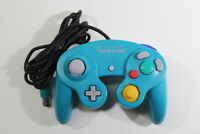 Official Nintendo GameCube Controller Teal Emerald Blue Tight OEM T3 Worn Cord