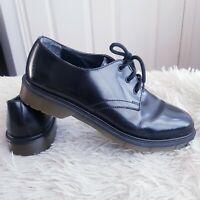 BATA Shoes Men's Black Patent Leather Lace Up Shoes UK 8 EUR 42 *Not Dr Martins*