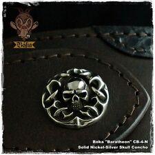 Boka Skull Concho Coin Nickel Silver Silver Brass Biker Wallet Harley Motorcycle