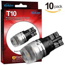 10pcs Yorkim T10 Wedge 194 LED Light Bulbs 2825 192 168 High Power Super White