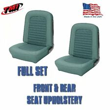 Front and Rear Seat Upholstery Turquoise Vinyl for 1966 Ford Mustang by TMI, USA
