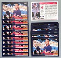 50) MANNY RAMIREZ Cleveland Indians 1994 Score ROOKIE PROSPECT Baseball Card LOT