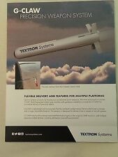 Textron Systems G-CLAW Precision Weapon System Military Data Sheet