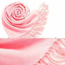 Women's men's Solid Color Pashmina Larg Scarf Silk Stole Wrap Party Wedding Shaw