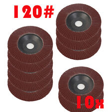 10x 4inch 100mm Flap Wheel for Grinding and Sanding Discs 120 Grit Angle Grinder