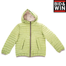 Rrp€205 Add Down Quilted Jacket Size 8Y 128Cm Contrast Trim Hand Pockets Hooded