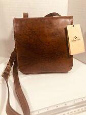 New ListingPatricia Nash Granada Signature Map Print Leather Crossbody Italy Bag Nwt New
