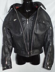 BMW Canyon Motorrad Retro Vintage Leder (Echtleder) Jacke Protektoren Gr. 50 L