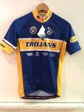 Jakroo Trojans Blue Full Zip Men's Cycling Jersey S Small New