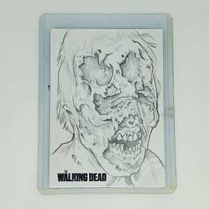 The Walking Dead Sketch Card ACEO PSC By Paul Vang Zombie Day Walker 1 of 1 Rare