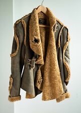 Vivienne Westwood Anglomania Shearling Biker Jacket Size 40