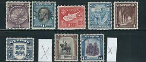 CYPRUS 1928 50th year anniversary (Scott 114-119, 121 122 short 120 123) VF MH