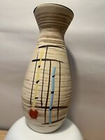 Vintage Vase, Mid Century Modern Abstract Design Studio Pottery Ceramic