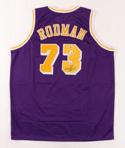 Dennis Rodman Signed Los Angeles Lakers Jersey (Beckett COA) NBA Rebounding Ldr.