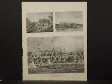 New York, Historical Engravings, 1867 Map Putnam County, Lake Mahopac !O3#33