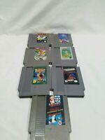 NES Nintendo Game Lot (7) super Mario bros duck hunt, tetris, ring king & more